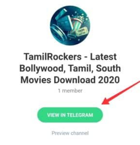 Tamilrockers telegram channel latest link for movies download