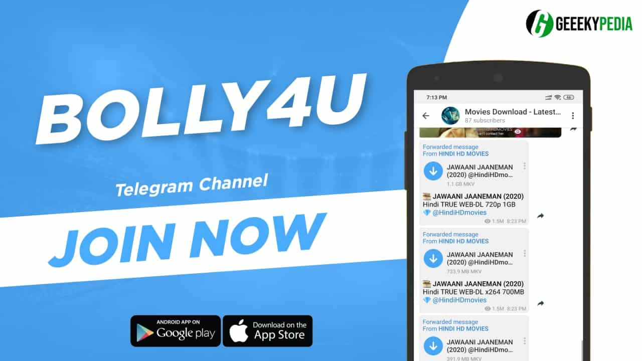 Bolly4U Telegram Channel 2020 latest Movies on Telegram Channel